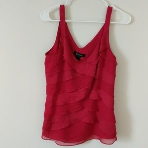 White House Black market red blouse size small